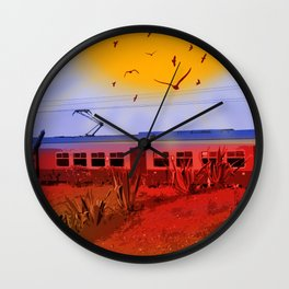 The Train Passed By Wall Clock