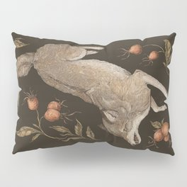 The Wolf and Rose Hips Pillow Sham