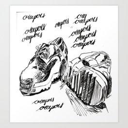 Sketchy Creepers Art Print