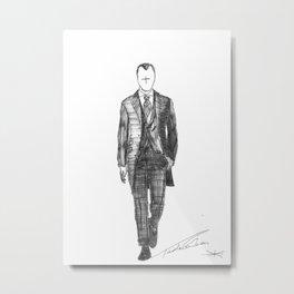 Elegance walking by Tade Garben Metal Print