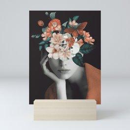 WOMAN WITH FLOWERS 7 Mini Art Print