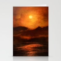 sunset Stationery Cards featuring Sunset by Viviana Gonzalez