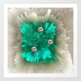 Diamonds in Emerald-Fire Art Print