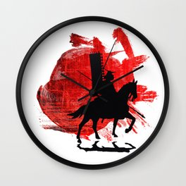 Japan Samurai Wall Clock