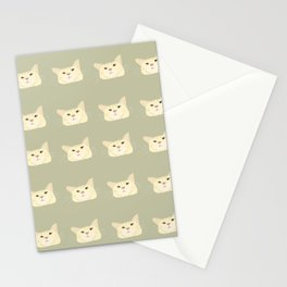 Sage green tabby cat  Stationery Cards