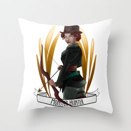 Steampunk Occupation Series: Monster Hunter Throw Pillow