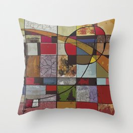 Circle of Colors Throw Pillow