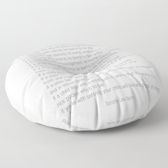 Children Learn What They Live #minimalism 2 Floor Pillow