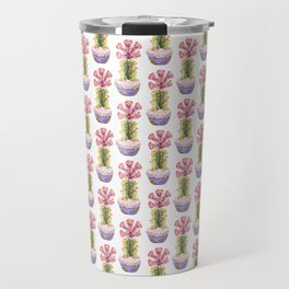 Papercraft Cactus in Pink Travel Mug