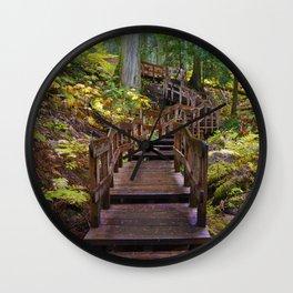 Giant Cedars Boardwalk in Revelstoke National Park, BC Canada Wall Clock