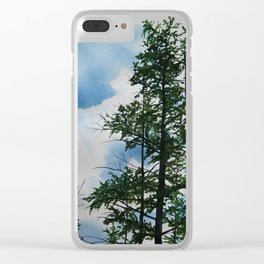 Larch trees Clear iPhone Case