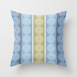 Blue Cornflower Pattern Throw Pillow