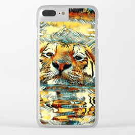 AnimalArt_Tiger_20170601_by_JAMColorsSpecial Clear iPhone Case