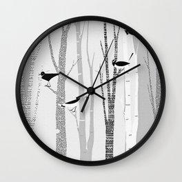 Winter Birds / 02 Wall Clock