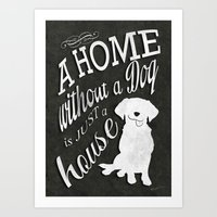 Home with Dog Art Print
