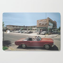 Eden Roc Motel, 1960's Pontiac, Wildwood, NJ, Retro Motel Cutting Board