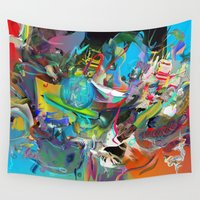 archan nair Wall Tapestries featuring Microcrystalline Tendrils by Archan Nair