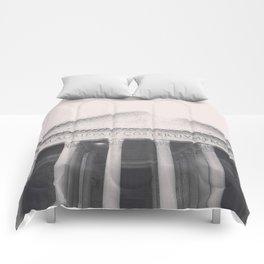 The Pantheon, fine art print, black & white photo, Rome photography, Italy lover, Roman history Comforters
