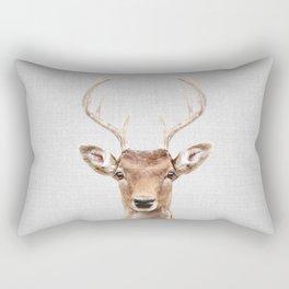 Deer 2 - Colorful Rectangular Pillow