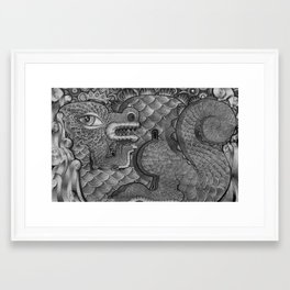 King Dragon Framed Art Print