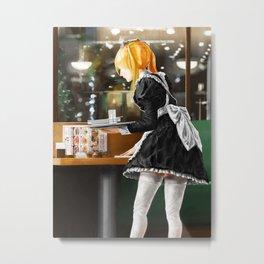 Waitress Metal Print
