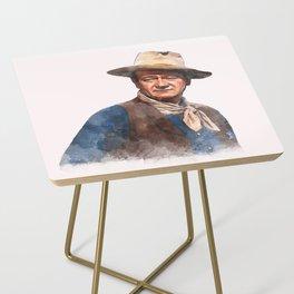 John Wayne - The Duke - Watercolor Side Table