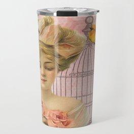 Vintage Victorian Beauty Travel Mug