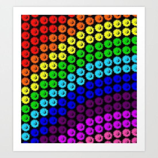 Chase the rainbow Art Print