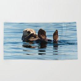 Sea Otter Beach Towel