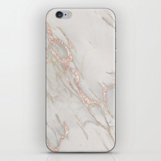 Marble Rose Gold Blush Pink Metallic by Nature Magick iPhone Skin