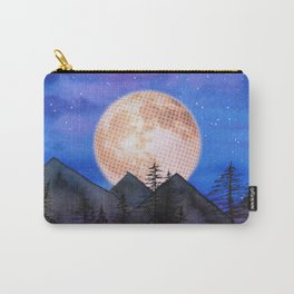 Moon over the mountains Carry-All Pouch