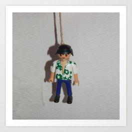 playmobil suicide Art Print