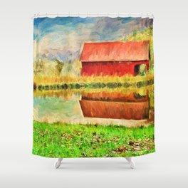 Farm Reflections Shower Curtain
