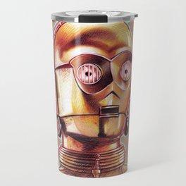 Golden Robot C3PO Travel Mug