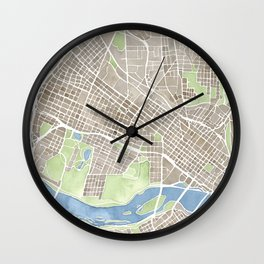 Richmond Virginia City Map Wall Clock