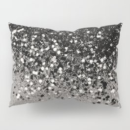 Silver Gray Glitter #1 #shiny #decor #art #society6 Pillow Sham
