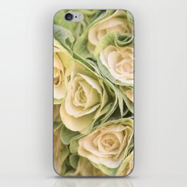 Greenyellow roses iPhone Skin
