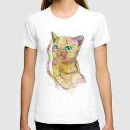 Coloured Cat T-shirt
