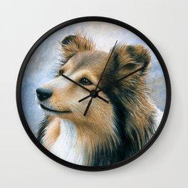 Dog 122 Sheltie Collie Dog Wall Clock