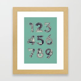 Re:Production Alphabet - Numbers  Framed Art Print