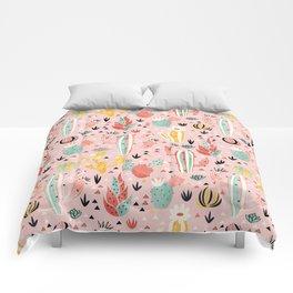 Pink Desert pattern Comforters