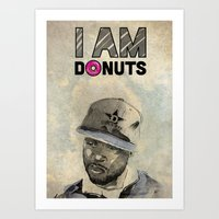 j dilla Art Prints featuring J DILLA by Delano Limoen