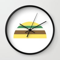 taco Wall Clocks featuring Taco by parallelish