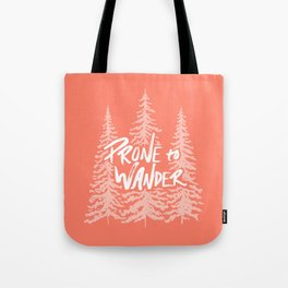 Prone to Wander - Coral Tote Bag