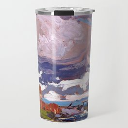 Tom Thomson - Tea Lake Dam - Canada, Canadian Oil Painting - Group of Seven Travel Mug