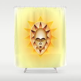 Fang mask-The sun Shower Curtain