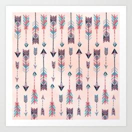 Patterned Arrows Art Print