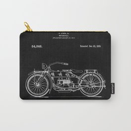 Motorcycle Blueprint 1919 Carry-All Pouch