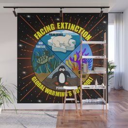 Facing Extinction:  Global Warming's Not Cool Wall Mural