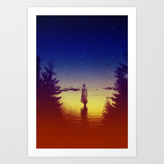 Wander Night Noise Art Print